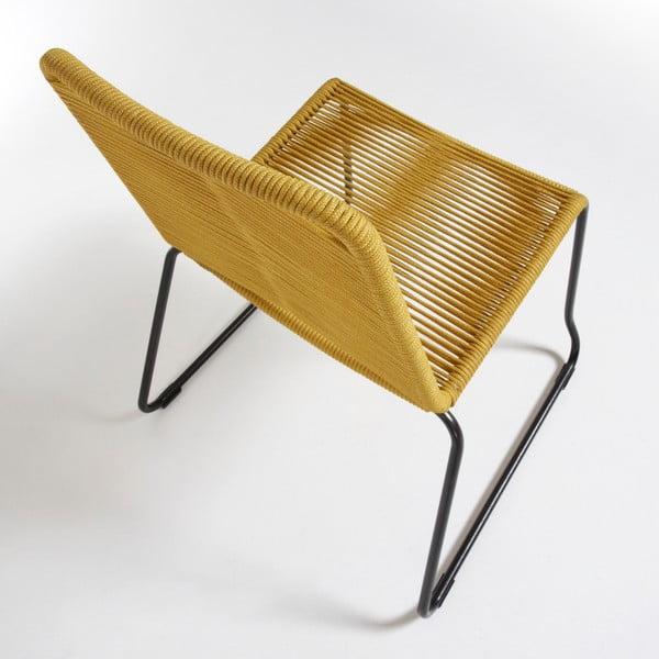 Židle Maegan, hořčicová