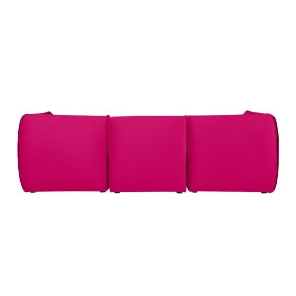 Růžová modulová rohová třímístná pohovka Norrsken Ebbe