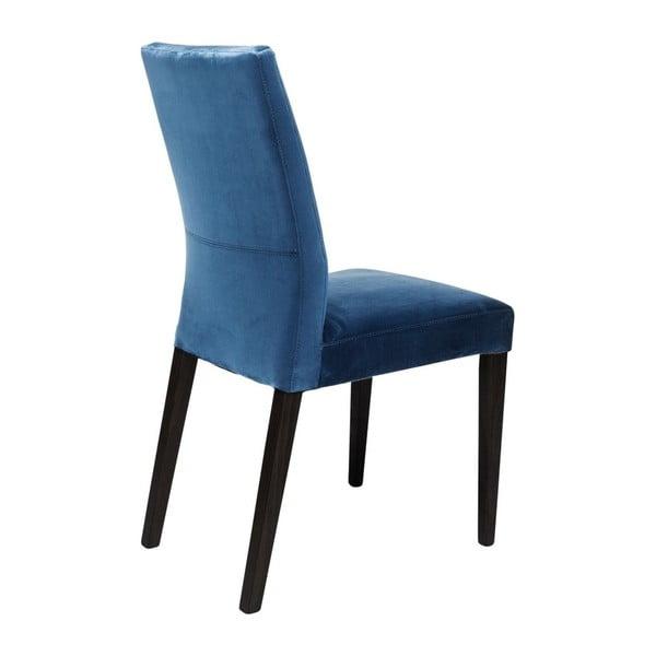 Sada 2 modrých jídelních židlí s nožičkami z bukového dřeva Kare Design Mara