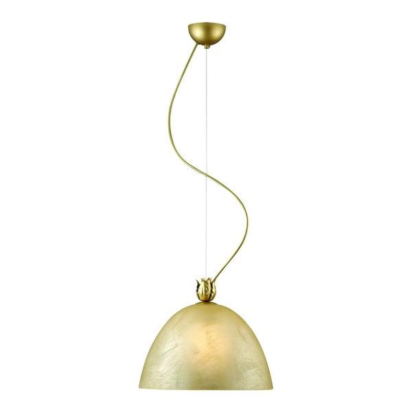 Závěsná lampa Virgo, zlatá