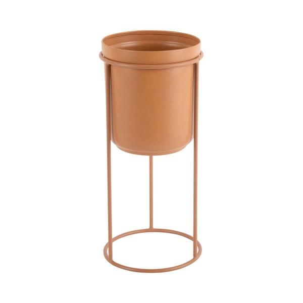 Tub karamellbarna fém virágcserép, magassága 27 cm - PT LIVING