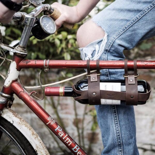 Kožený držák vína na bicykl Men's Society Wine Bottle Holder