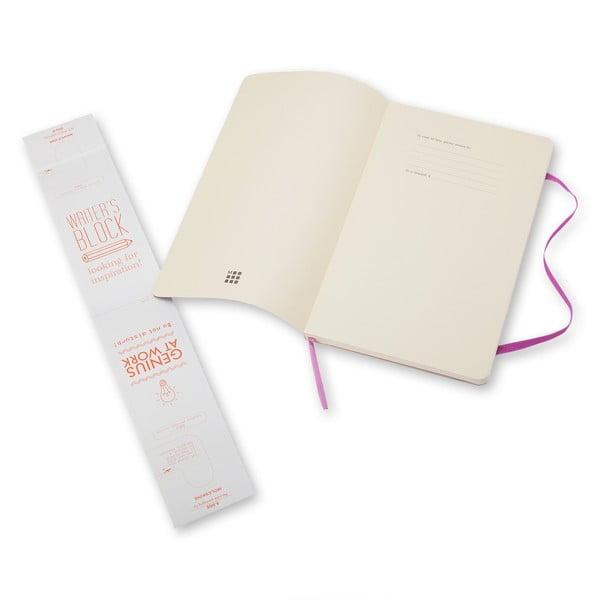 Velký světle fialový zápisník Moleskine Soft, bez linek