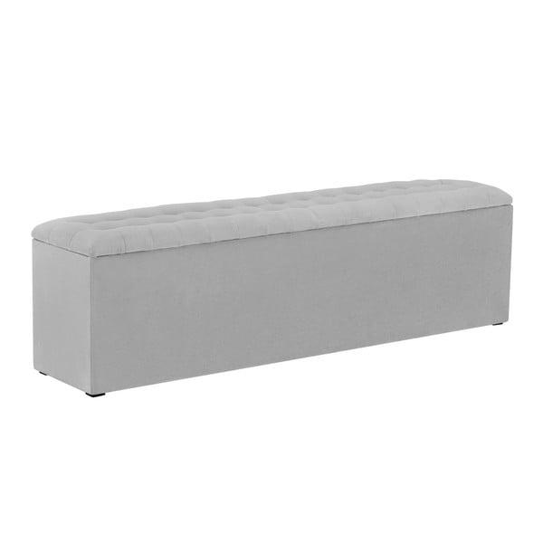 Světle šedý otoman s úložným prostorem Windsor & Co Sofas Nova, 160 x 47 cm