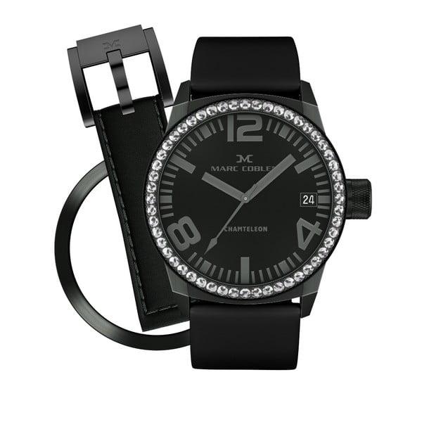 Dámské hodinky Marc Coblen s páskem a kroužkem navíc P64