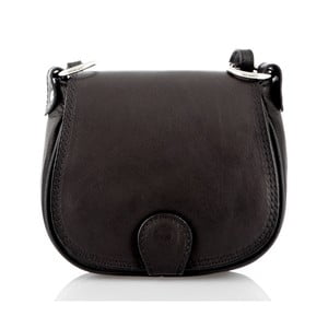 Černá kožená kabelka Glorious Black Sibilia