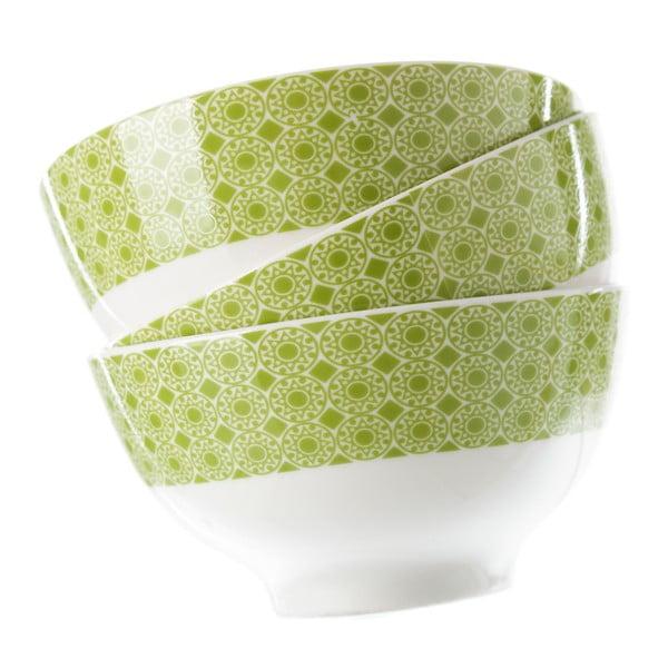 Sada 6 zelených porcelánových misek Unimasa Mandall