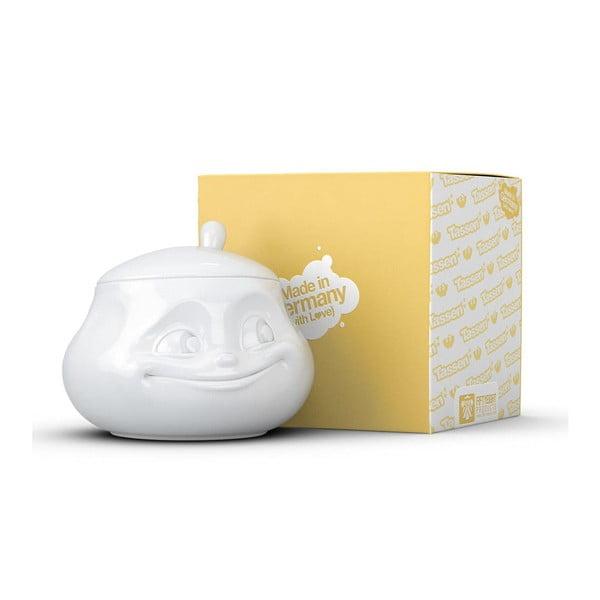 Zaharniță din porțelan, zâmbet, 58products, alb