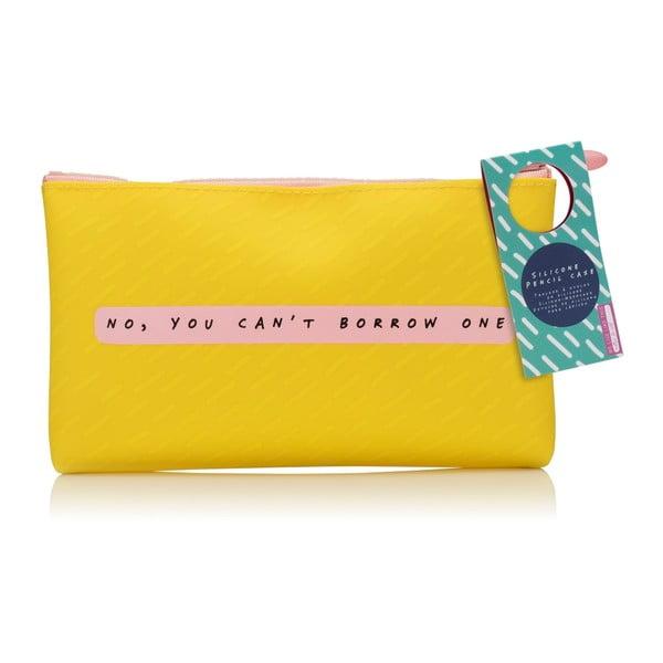 Notes To Self sárga szilikon tolltartó - npw™