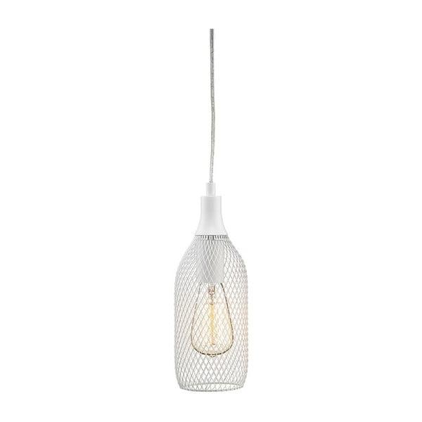 Bílé závěsné světlo Markslöjd Grid, 11cm