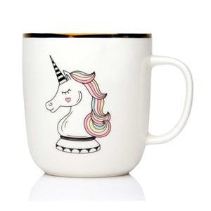 Hrnek z kostního porcelánu Sabichi Unicorn Check Mate, 450 ml