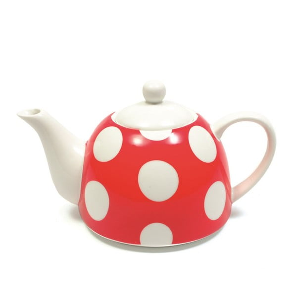 Čajová konvice, červený puntík