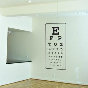 Samolepka Eye test, 110x50 cm
