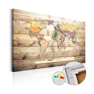 Nástěnka s mapou světa Artgeist The World at Your Fingertips, 120x80cm
