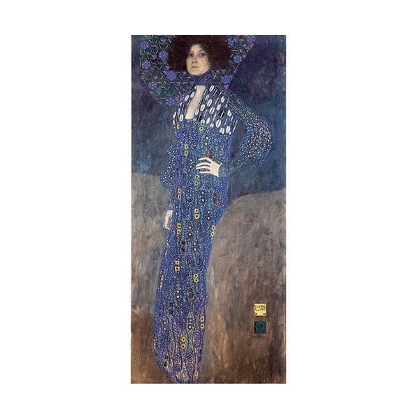 Reprodukce obrazu Gustav Klimt - Emilie Flöge, 90 x 40 cm