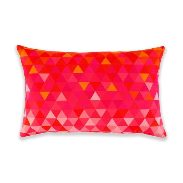 Polštář Triangles Orange/Pink, 60x40 cm