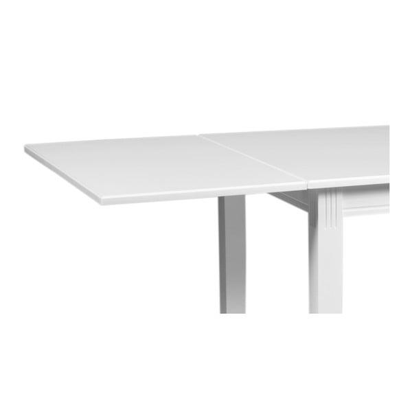 Extensie masă din lemn de stejar Rowico Pegasus, alb