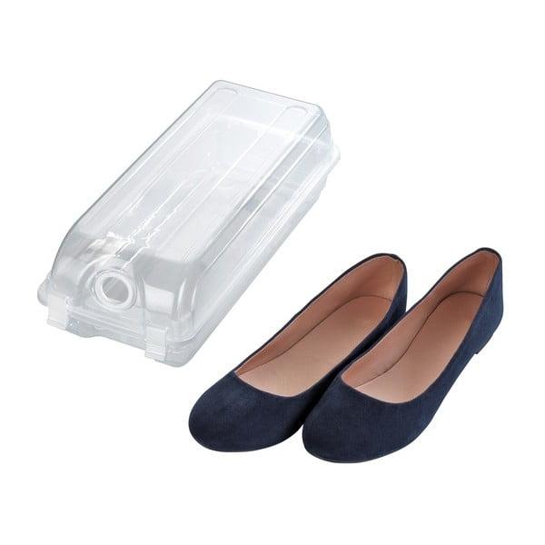 Transparentné úložný box na topánky Wenko Smart, šírka 14 cm