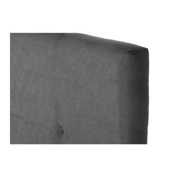 Šedá postel s matrací Stella Cadente Syrius, 160x200 cm