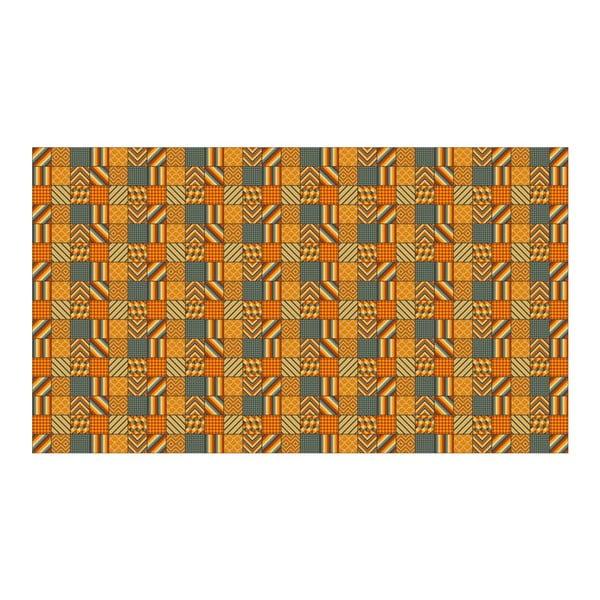 Vinylový koberec Kalia Orange, 52x240 cm