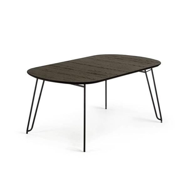 Masă La Forma Norfort, lungime 140/220 cm, negru