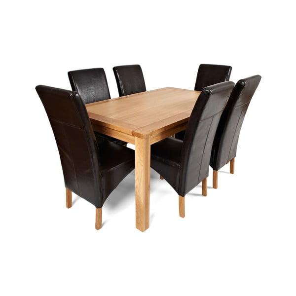 Jídelní sada stolu a 6 židlí Hampton