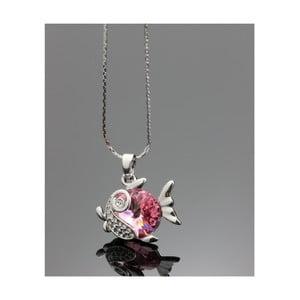 Náhrdelník Swarovski Elements Pisces Rosa