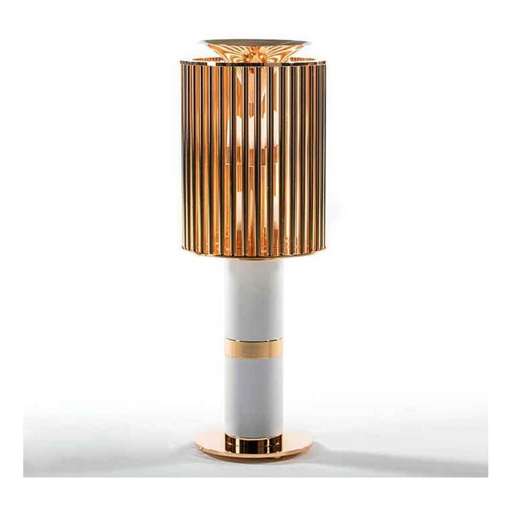 Stolní lampa se stínidlem v bílo-zlatém provedení Thai Natura