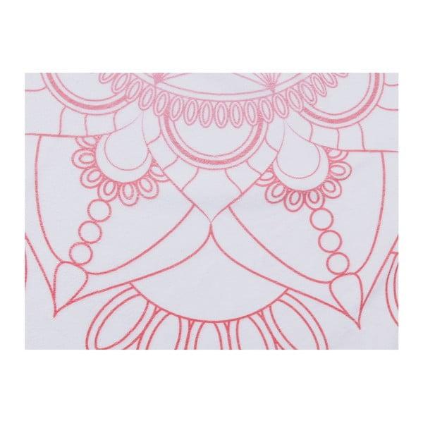 Barevná plážová osuška ze 100% bavlny Flower, ⌀ 150 cm
