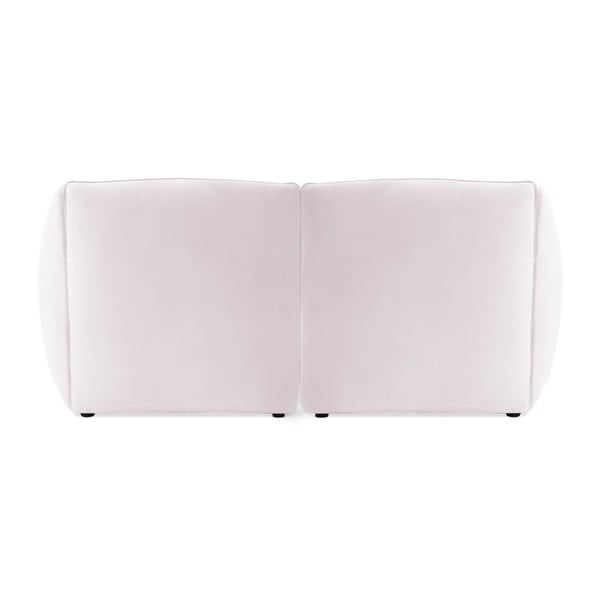 Světle fialová dvoumístná modulová pohovka Vivonita Velvet Cube