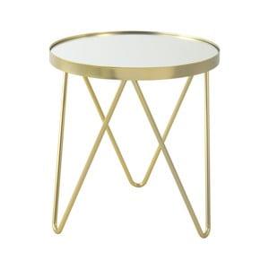 Odkládací stolek ve zlaté barvě 360 Living Julia, ⌀ 42 cm