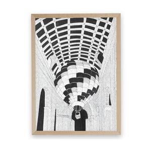 Puzzle z recyklovaných materiálů v bukovém rámu Pucle Okamih pravdy,500dílků