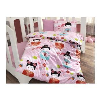 Lenjerie de pat și cearșaf pentru copii Kucuk 100 x 150 cm