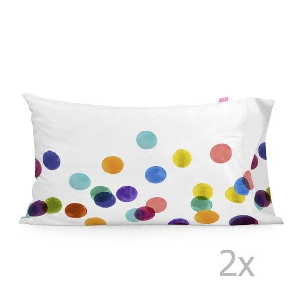 Zestaw 2 bawełnianych poszewek na poduszki Happy Friday Confetti, 50x75 cm