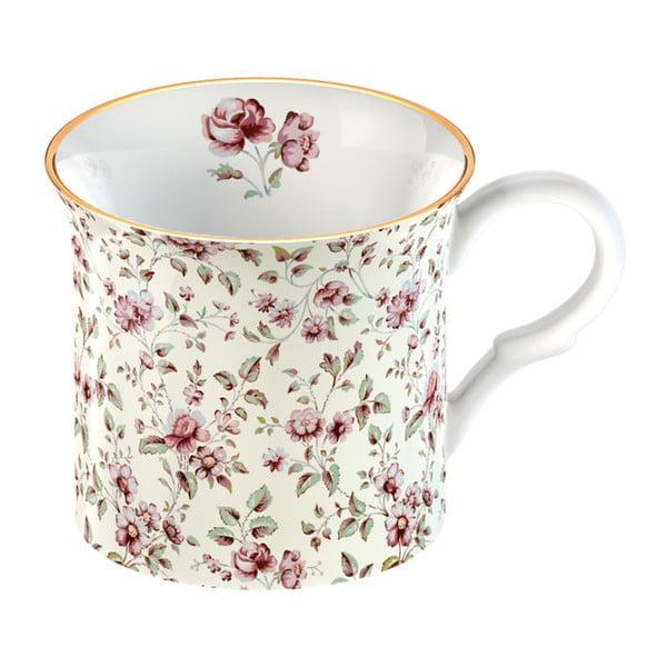 Floral fehér porcelánbögre - Creative Tops