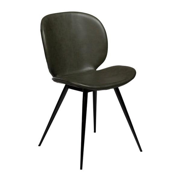 Ciemnozielone krzesło ze skóry ekologicznej DAN–FORM Denmark Cloud