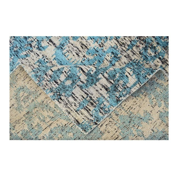 Ručně tkaný koberec Ikat Turquoise, 160x230cm