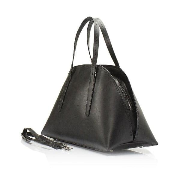 Černá kožená kabelka Lisa Minardi Cast