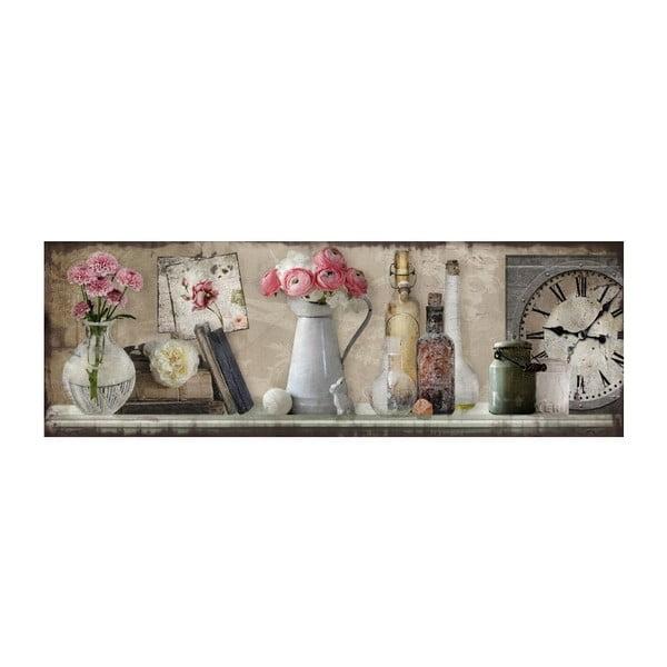Obraz Rozkvetlá římsa, 90x30 cm