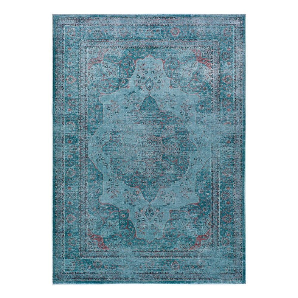 Modrý koberec z viskózy Universal Lara Aqua, 120x170cm