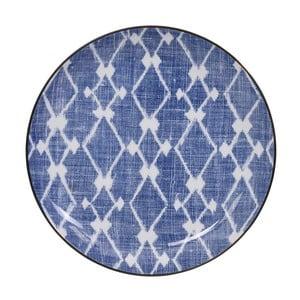 Modro-bílý talíř Tokyo Design Studio Shibori, ⌀21,5cm