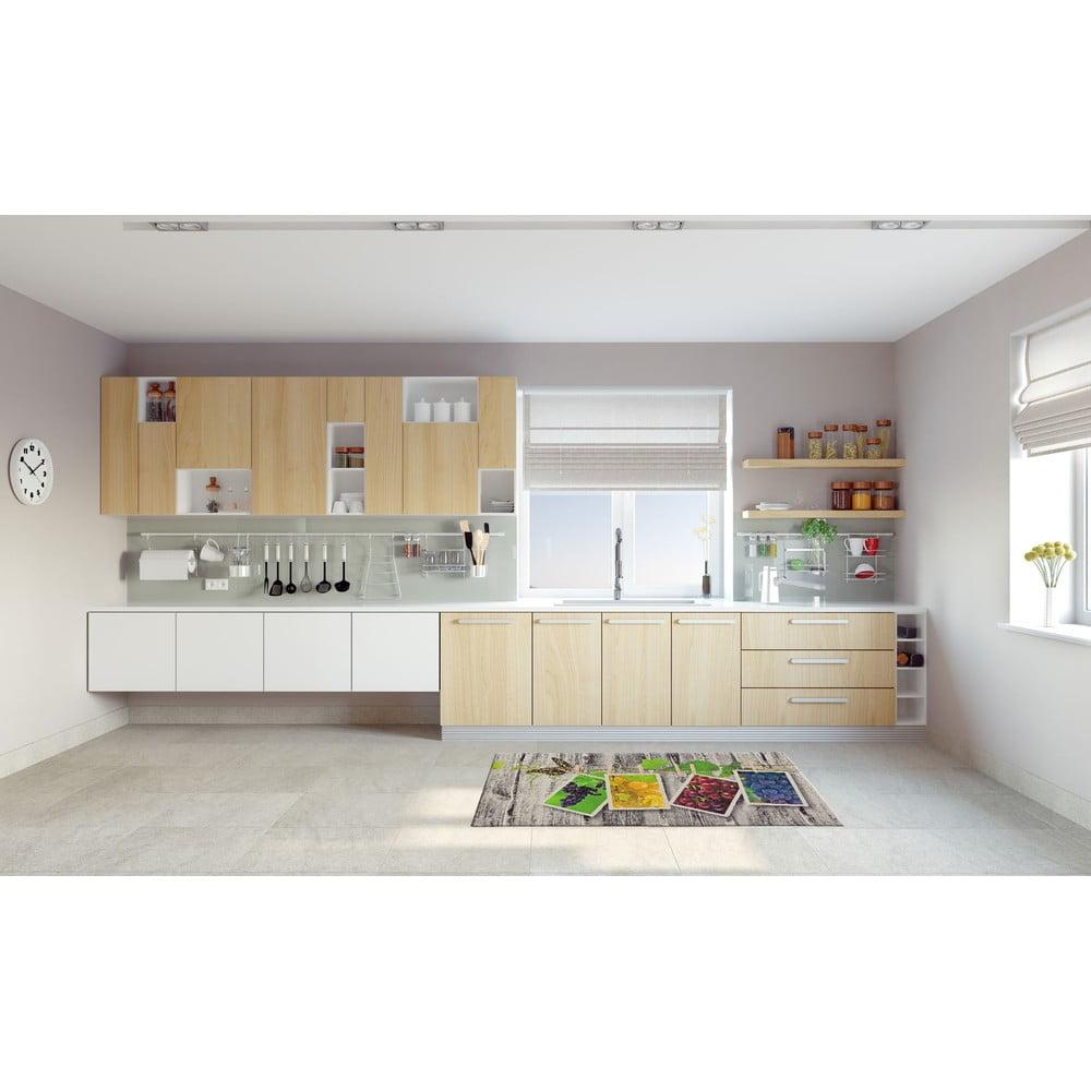 Vysoce odolný kuchyňský koberec Webtappeti Fruits,60x240cm