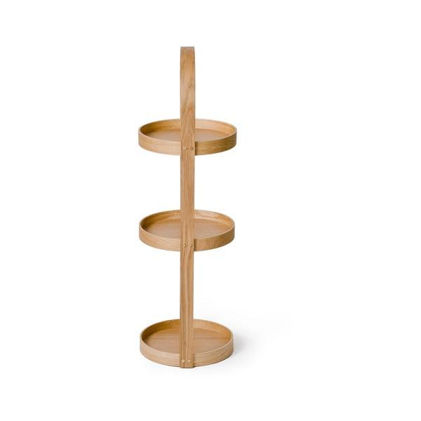 Dřevěný stojan do koupelny Wireworks Round Caddy Mezza, 3 police