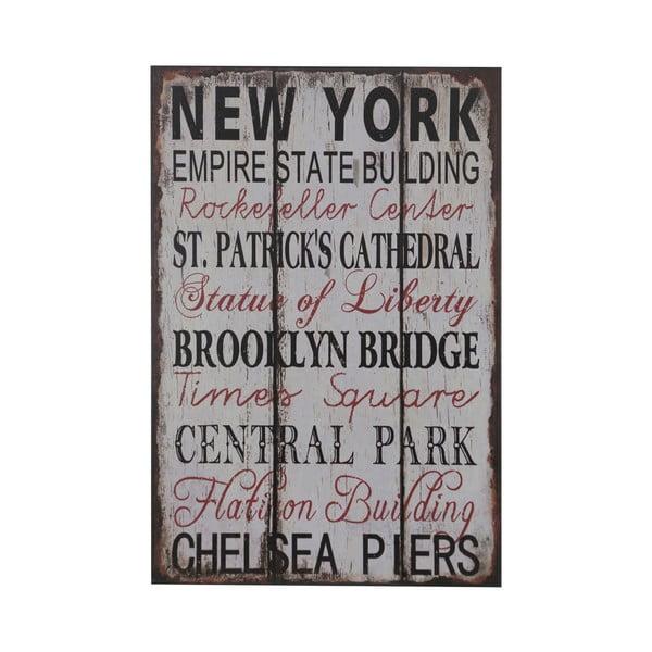 Dřevěný obraz New York, 25x38 cm