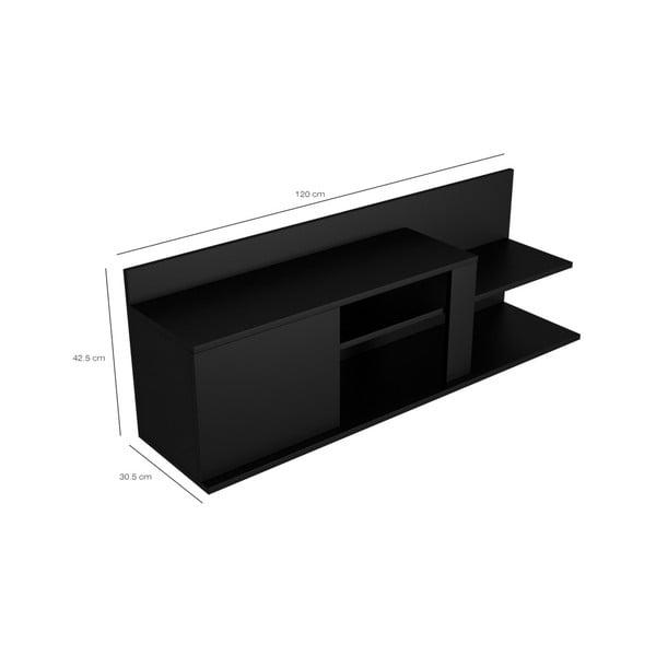 Černý TV stolek Marshall, šířka120cm