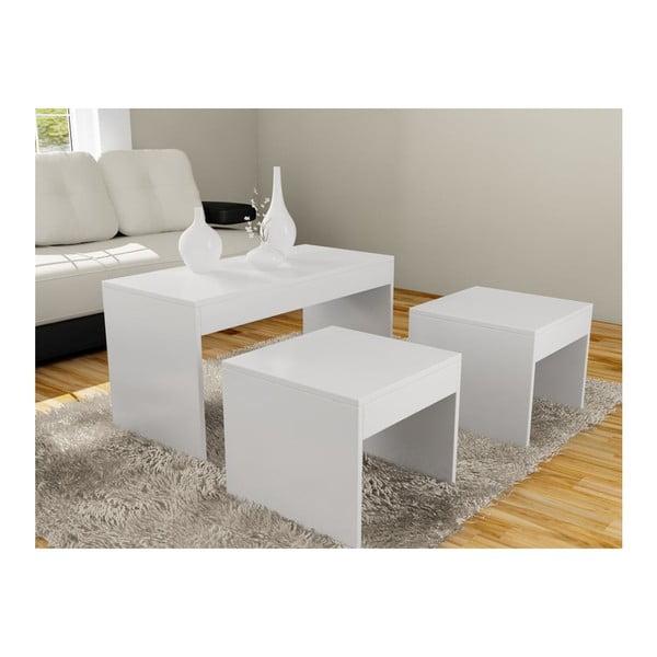 Konferenční stolek se 2 stoličkami Sebboy White