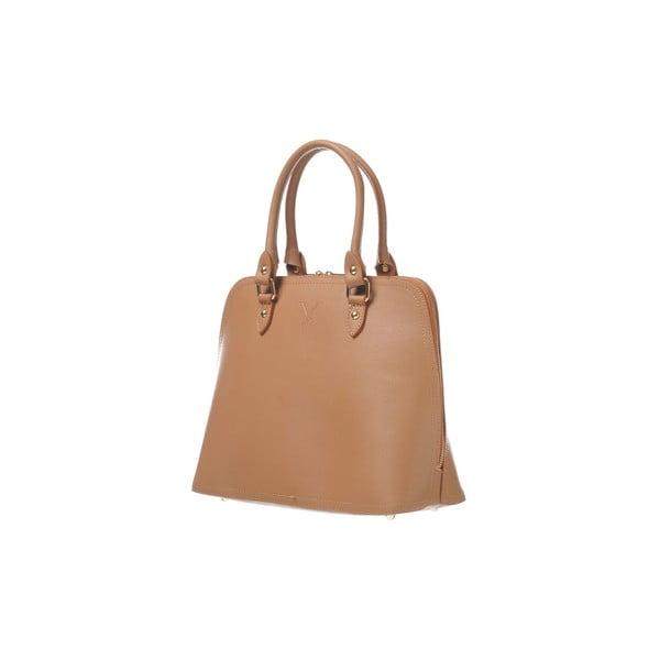 Kožená kabelka Fan Bag Chocolate