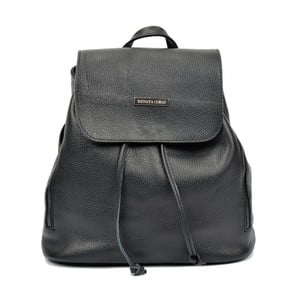 Černý kožený batoh Renata Corsi Ruhmo Lento