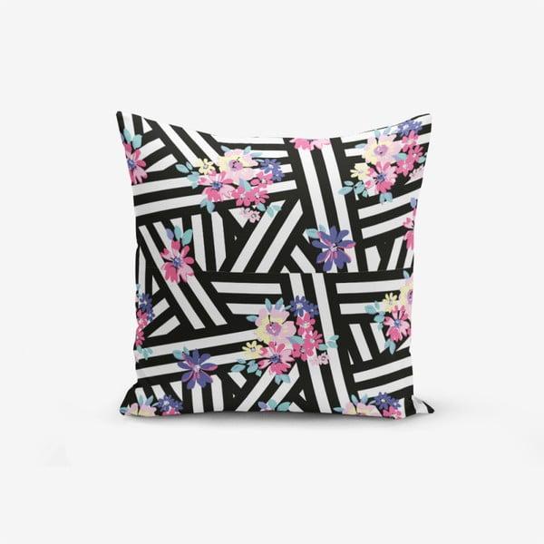 Față de pernă cu amestec din bumbac Minimalist Cushion Covers Colorful Zambak Moderk, 45 x 45 cm