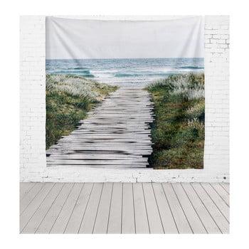Tapiserie din microfibră Really Nice Things Beach Way, 140 x 140 cm